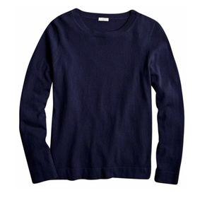 NWT J. Crew Cotton-Wool Teddie Sweater in Navy